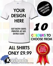Design Your Own Shirt | Personalised T-Shirt | Unisex |10 COLOURS  T-Shirt