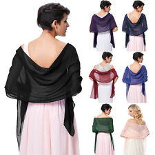 2017NEW Chiffon Shawl Scarf Wrap Stole for Formal Bridesmaids Evening Prom Dress