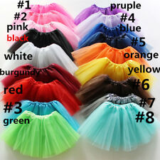 Baby Kids Petticoat Short Tutu Girls Party Dancewear Tulle Bouffant Ballet Skirt