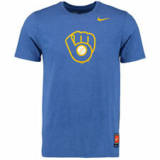Nike MLB Authentic Collection Cooperstown Retro Milwaukee Brewers Blend T-Shirt