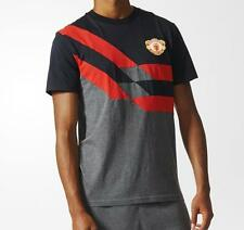 adidas MUFC Manchester United 2016/17 Men's Tee T-Shirt Black/Red/Grey 1704
