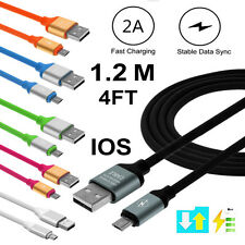 Real 2A TPE USB Fast Charger Charging Data Sync Cable For iPhone 5 6 7 Plus Lot