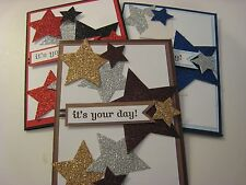 Graduation Handmade Card using Stampin Up - choose your color (stars)