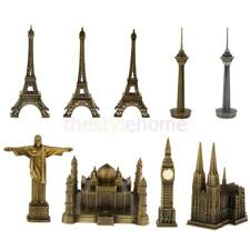 MagiDeal Vintage Paris Eiffel Tower Big Ben Figurine Statue Model Home Decor