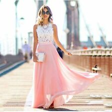 Women Lace Summer Long Maxi Dress BohoBeach Evening Party Cocktail Sundress Lady