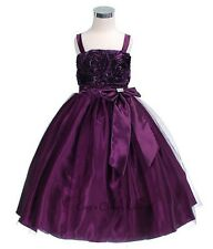 New Purple Flower Girls Dress Easter Christmas Party Pageant Fancy Holiday 6006K