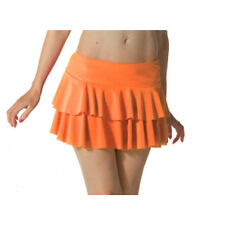 Ladies Girls Neon RARA Mini Short Skirt Dance Club Women Fancy Fit Orange Colour