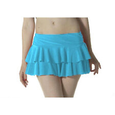 Ladies Girls Neon RARA Mini Short Skirt Dance Club Women Fancy Turquoise Colour
