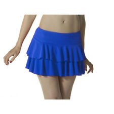 Ladies Girls Neon RARA Mini Short Skirt Dance Club Women Fancy Fit Blue Colour