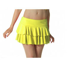 Ladies Girls Neon RARA Mini Short Skirt Dance Club Women Fancy Fit Yellow Colour