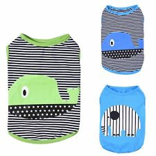 Pet Puppy Small Dog Cat Summer Shirts Clothes Stiped Animal Vest T Shirt Apparel