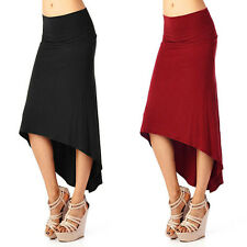 Skirt Sexy Asymmetric Package Hip New Irregular Dovetail Solid Color Women