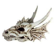 "Large 19""L Fossil Elder Magic Dragon Skull Statue Figurine Prehistoric Fantasy"