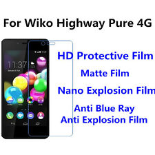 3pcs For Wiko Highway Pure 4G Anti Fingerprint High Clear/Anti Blue Ray Film