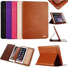 Genuine Real Leather Case Flip Stand Smart Cover For Apple iPad mini / Air / Pro