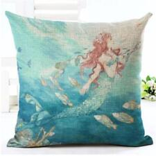 Sexy Mermaid Square Cotton Linen Throw Pillow Case Cushion Cover Home Decor