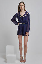 NEW FINDERS KEEPERS BELLE PLAYSUIT navy