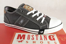 Mustang Canvas Lace up Sneakers Low Shoes grey, Rubber sole 1099 NEW