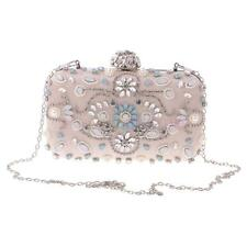 MagiDeal Women Evening Clutch Bag Rhinestone Bridal Wedding Party Handbag Purse