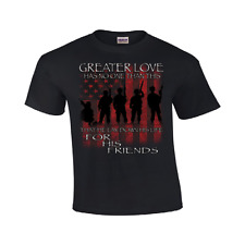 Greater Love Armed Forces T Shirt Military Mens Sizes #136