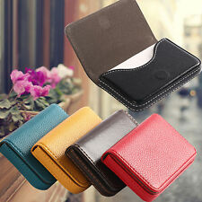Faux Leather Magnetic Closure Business ID Credit Card Holder Pocket Box Dazzling