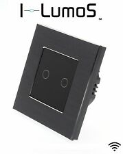 I LumoS Black Aluminium Frame Touch, Dimmer, Remote & WIFI LED Light Switches