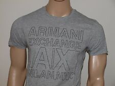 Armani Exchange Authentic Rubber Dots Logo T Shirt Heather Gray NWT