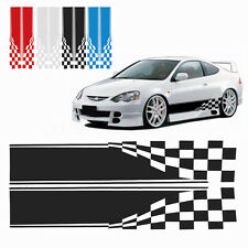 2x Checkered Flag Auto Graphic Decal Vinyl Car Truck Body Racing Stripe Sticker