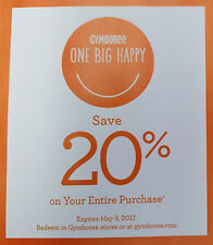 GYMBOREE 20% off ENTIRE PURCHASE Coupon Expires 9/5/17