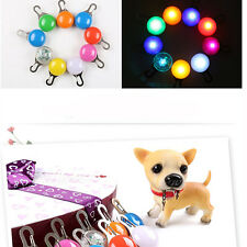 Pet Cat Dog Puppy Safety LED Clip Buckle Night Light Fashion Collar Tag Pendant