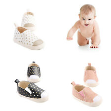 New PU Leather Infant Toddler Polka Dots Crib Bebe Unisex Kids Prewalker Shoes