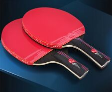 Table Tennis Racket Blade With Double Face Pimples-in Racket Rubber Carbon Fiber