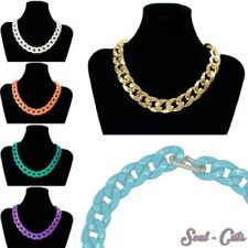 1 Chic Statement Necklace Necklace Many Colors Gold Green Turquoise Silver Cream