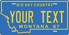 Montana 1967 License Plate Personalized Custom Auto Bike Motorcycle Moped tag