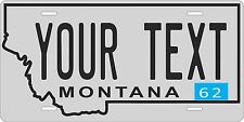 Montana 1962 License Plate Personalized Custom Auto Bike Motorcycle Moped tag