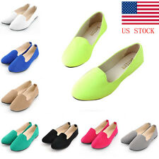 US STOCK! Womens Loafers Moccasin Ballerina Flat Ballet Boat Shoes Dolly Pumps