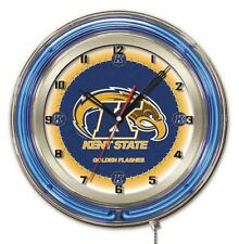Kent State University Logo Neon Wall Clock