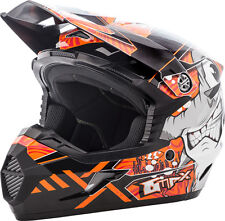 NEW GMAX  MX46 HOOPER HELMET FLAT BLACK/DARK SILVER YOUNG ORNG[Different Sizes]
