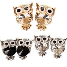 Women's Fashion Owl Cubic Zirconia Alloy Ear Stud Earrings Jewelry Gift Dreamed