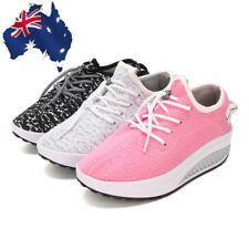 AU Fashion Womens Platform Swings Shape Ups Toning Fitness Walking Comfort Shoes