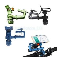 360° Cycling Bike Bicycle Head Light Flashlight Cell Phone Mount Clip Holder