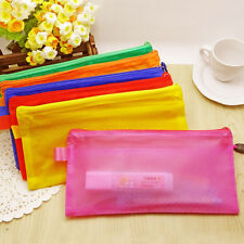 A4/A5/A6/B5 Double Grids Zipper PVC Document Bag Office Stationery Supplies