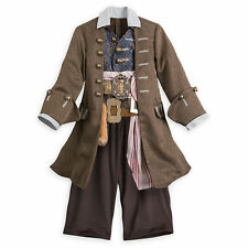 Disney Store Kids Official Pirates Of The Caribbean Jack Sparrow Fancy Costume