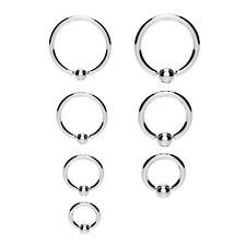 Surgical Steel Ball Closure Captive Ring BCR, Lip Nose Ear Tragus Septum ring