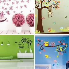 Cartoon Owl Butterfly Tree Game Wall Sticker Living Room Decals Home Decor Great