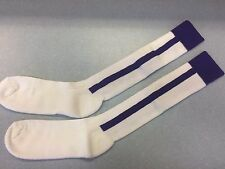 Pearsox Athletic All In One Knee High Stirrup Socks - White/Purple