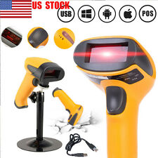 US Automatic USB Laser Barcode Scanner Barcode Reader Stand Handheld POS PC Wins