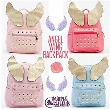 Angel Wing Pastel Harajuku Kawaii Faux Leather Mini Backpack - Iron Fist Style
