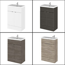 600mm Hudson Reed Bathroom Compact Combination BTW Vanity Unit With Sink Basin