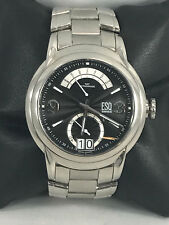 Men's ESQ Movado 07301235 QUEST Stainless Steel Black Retrograde Day Dial Watch